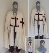 St George Medieval Knight 6 Piece Full Costume Set